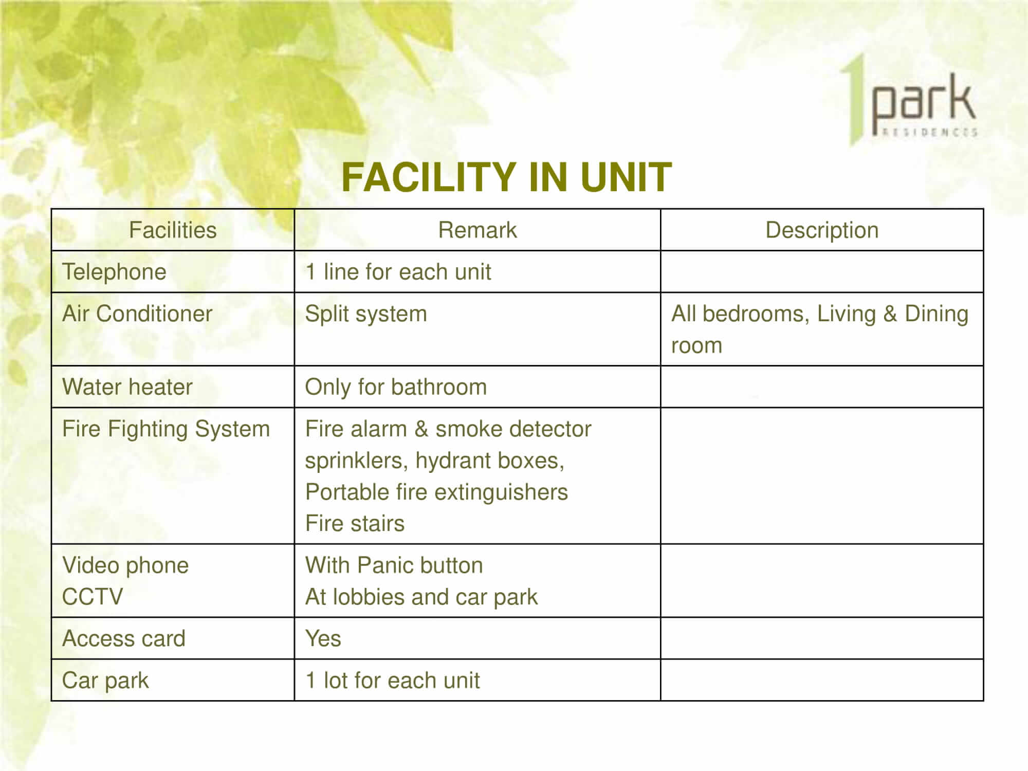 1 Park Residences 1PARK Resiidence 18
